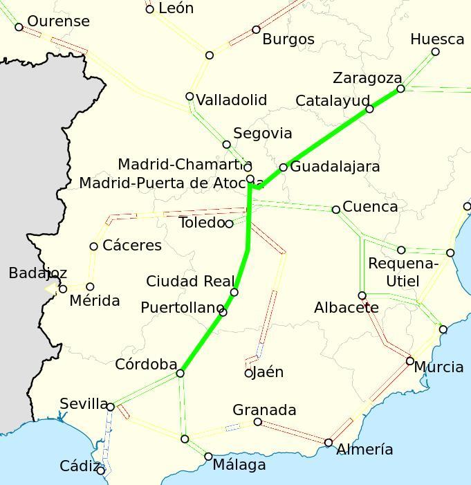 AVE Cordoba Zaragoza